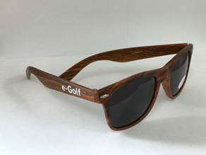 Woodgrain E-Golf Sunglasses