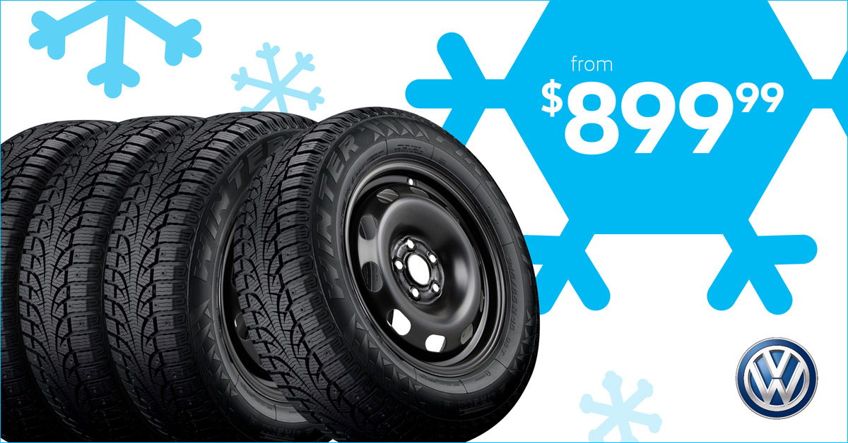 Blowout on Volkswagen Winter Tire and Rim packages