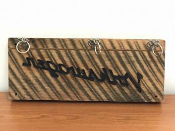 Hand Built Burnt Wood Key Holder