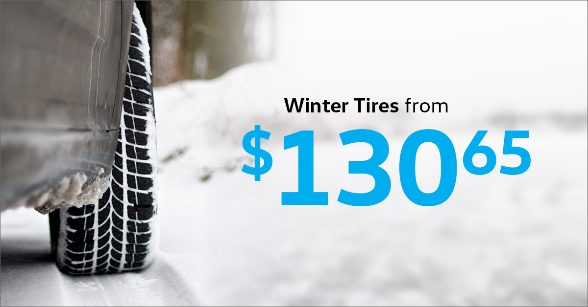 Winter Tires from $130.65!*
